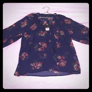 Lucky Brand 3/4 sleeve blouse